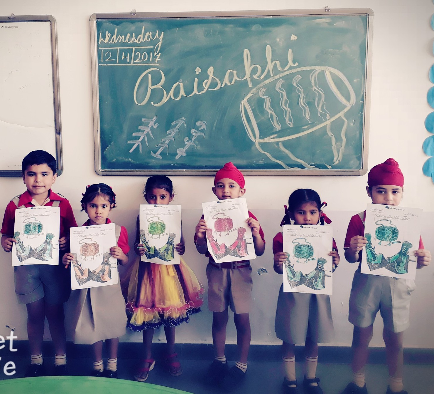 Baisakhi celebration Pre-primary wing