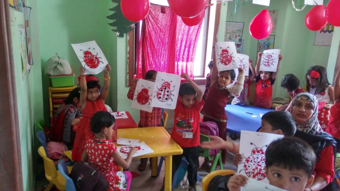 Red & Fun day of pre primary