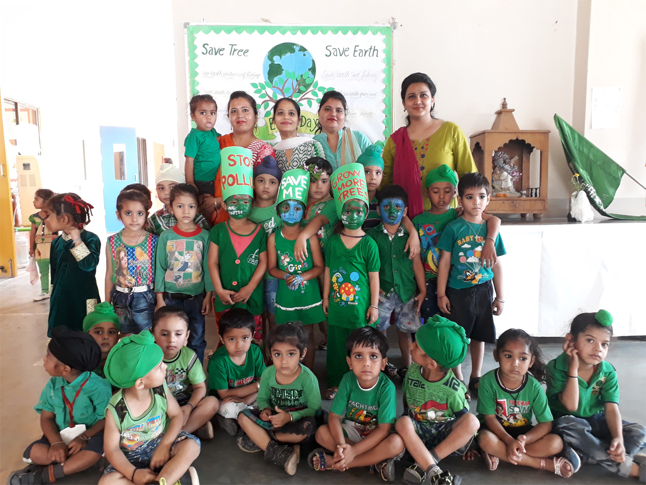 Earth day and Green day celebration of pri primary