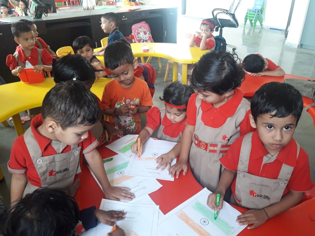 Flag Making Activity - Pre Primary Dighi
