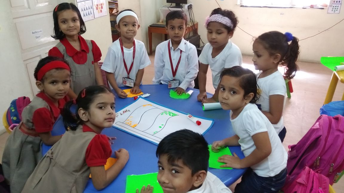 Flag Making Activity - Pre Primary Tingre Nagar
