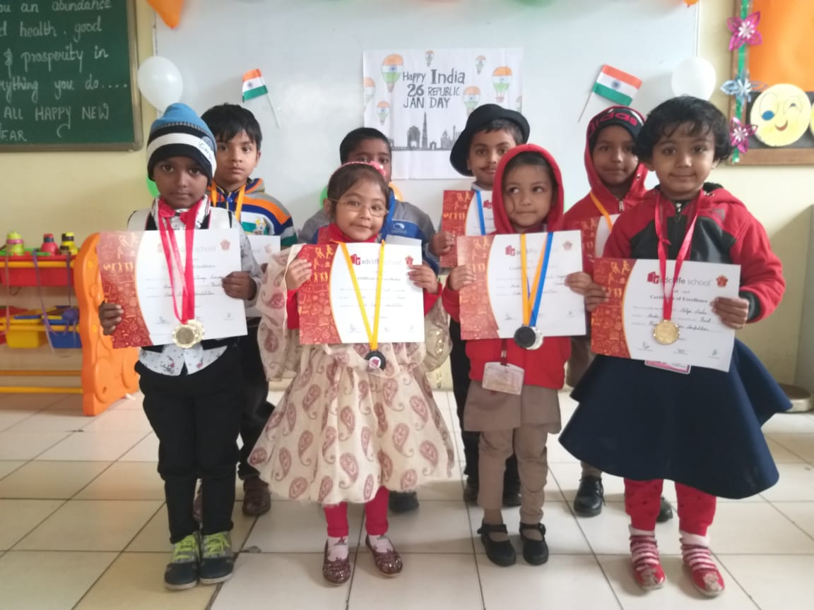 Republic Day Celebration at Kindergarten, Radcliffe School, Bhopal!